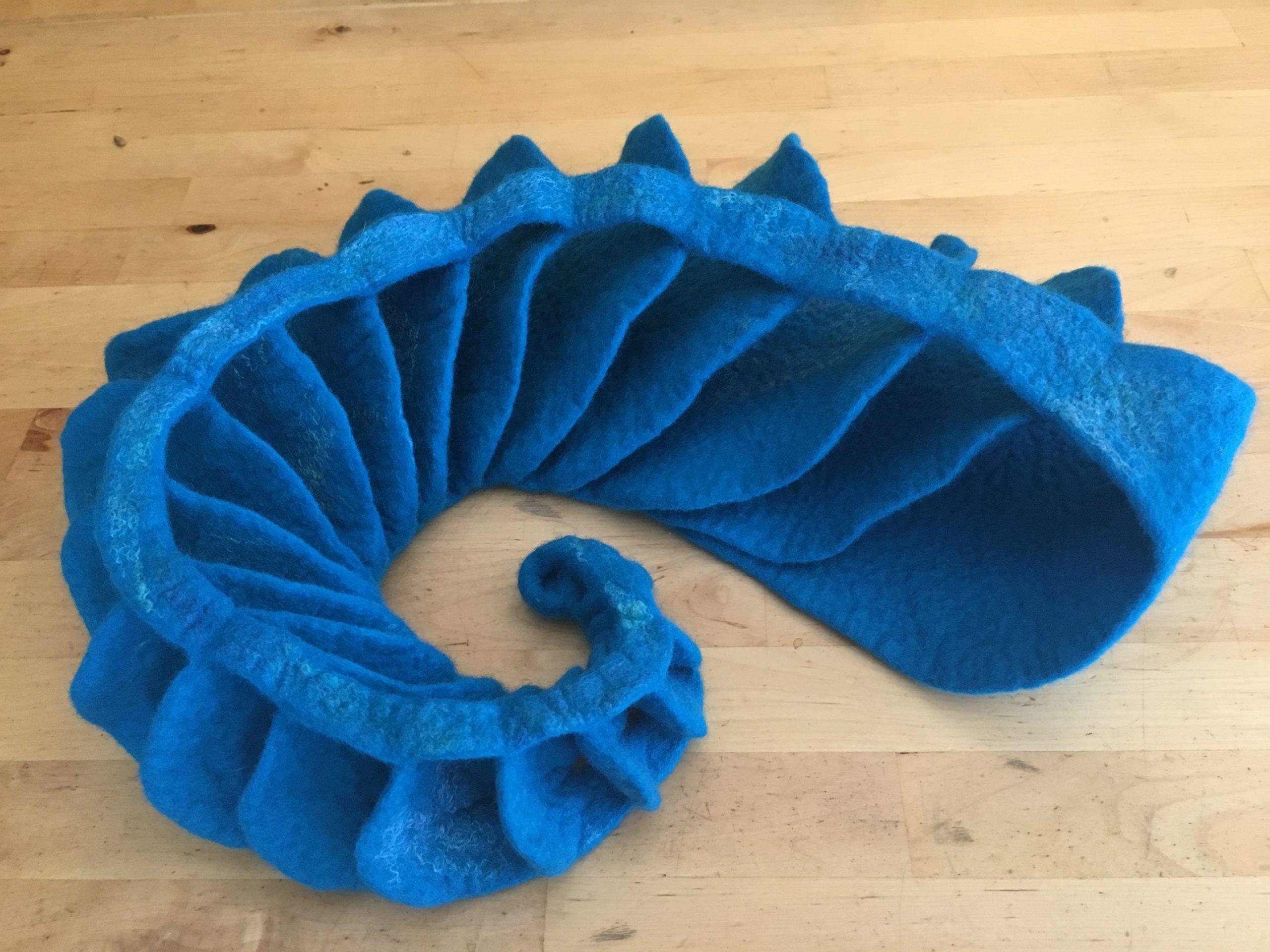 Spiraal in blauw